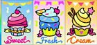'SMALL CUPCAKES SAND ART PICTURE KIT (makes 1)'