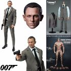 "1/6 Scale James Bond 007 Agent Head Sculpt+Clothes Set+Figure Body 12"" Hot Toys"