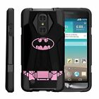 For LG Phone Models Armor Rugged Combat Dual Kickstand Case  Superman Batman  <br/> Dozens of Models from 2016 and 2017. Heavy Duty Cover