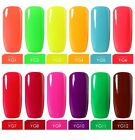 BELLE FILLE Neon Color UV LED Gel Nail Polish Varnish Soak-o