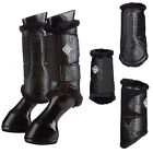 Le Mieux St Moritz Fleece Crocodile Leather Brushing Boots Black