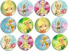 "12 or 24 x 1.5"" EDIBLE PRECUT TINKERBELL ICING CUPCAKE TOPPERS"