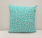 White and Teal Indoor, Outdoor Tower Pacific polyester PillowCase, Lumbar cover