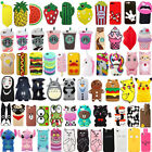 For iPhone SE 5 5s 5c Hot 3D Cute Cartoon Soft Silicone Phone Case Cover Back