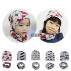 New Kids Toddler Ribbed Knit Winter Hat Beanie Cap with Neckerchief 2 KECP