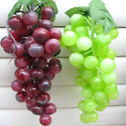Bunch Lifelike Artificial Grapes Plastic Fake Fruit Food Home Decor Decoration
