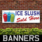 Ice Slush Sold Here PVC Banner Outdoor Drinks Lollies Cafe Signs (BANPN00258)