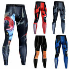 Men's Compression Running Tights Spandex Athletic Long Pants Sports Baselayer