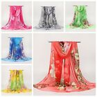 New Fashion Women Ladies Chiffon Floral Scarf Soft Wrap Long Shawl 160cm