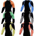 Mens Workout Compression T shirts Sports Gym Cycling Long Sleeve Tee Dri-fit Top