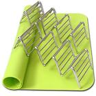 2 Taco Holders and Silicone Mat by AT - Best Stainless Steel Rack Tray...