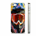 RED BULL MOTOCROSS  CLEAR PHONE CASE FITS IPHONE 4 5 5S  5C 6 6S SE 7 & PLUS mx