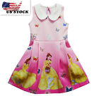 Gorgeous Belle Dress Princess Girl Beauty and The Beast  dresses #k92