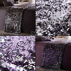 Portfolio - Dazzle Glitter Bed Runner Throw with Sequins - Purple or Gray