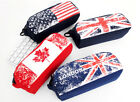 Pencil Case Canvas Pencil Case Pen School Pouch King Zipper Flag Pouch Case
