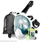 Swimming Full Face Snorkeling Mask Surface Diving Snorkel Scuba for GoPro Camera