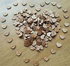Romantic 100pcs Rustic Wooden Love Heart Wedding Table Scatter Decoration Crafts