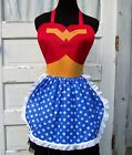 Wonder Woman Apron Cosplay Costume Superhero Cook Chef Halloween Convention