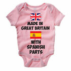 Baby Grow / Vest - MADE IN GREAT BRITAIN WITH SPANISH PARTS - Spain Body Suit