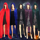 Halloween Adult Children Kids Death Witch Hooded Cloaks Capes Cosplay Costumes