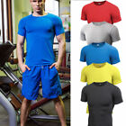Men's Sports Compression T Shirts Workout Athletic Tee Short Sleeve Dri Fit Tops