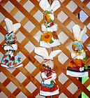 KITCHEN BUNNIES~FALL Or AUTUMN DESIGNS~Hand Crafted~Wall Decor~NEW~FREE SHIP