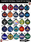NFL-Football-Team-Dog-Cat-Pet-ID-Tag for Collars! Double Sided! ENGRAVED FREE! $12.99 USD on eBay