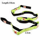 US Yoga Strap Gym Stretch Out Pilates + Exercise Booklet Fitness Training Belt D