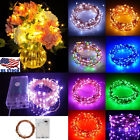 2/5/10m Aa Battery Operated Led Copper Wire String Fairy Lights Xmas Party Usa
