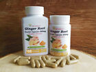 Ginger Root Powder Capsules (Zingiber officinale) 500mg -60/100/300 Counts
