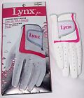 Lynx Jr. Golf GLove White Pink Youth Girl's Women's MEDIUM RIGHT Free Shipping