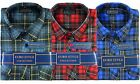 Mens Check Shirt Brushed Cotton Flannel Lumberjack Long Sleeve Warm Work Shirts.