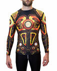 Raven Fightwear Men's Steampunk MMA BJJ Rash Guard Black