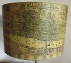 Medieval London Lampshade Mustard, Antique Map, shabby chic,vintage, free gift