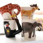 3D Animal Hand-Painted Ceramics Mugs Cups Milk Water Tea Coffee Cups Gifts HOT
