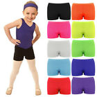 Children Kids Neon Lycra Stretchy Hot Pants Shorts - Dancing Shorts - Party Wear