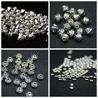Wholesale 50/100/200PCS Tibetan Silver Closed Angle Charms Spacer Beads 6/7/8/mm