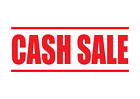 CASH SALE Rubber Stamp, Self-Inking Office Stamp 4 sizes, 5 Colours