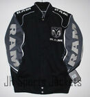 Authentic Ram Truck Racing Embroidered Cotton Jacket JH Design Black New