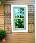 Wrought Iron Exterior Window Shutters - Metal Wall Art