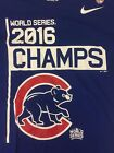 CHICAGO CUBS 2016 NIKE WORLD SERIES CHAMPS T-SHIRT MEN'S BLUE WHITE NEW