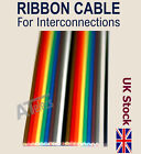 RIBBON CABLE  For Interconnections   Coloured Flat  10 way / 20 way  - UK Stock