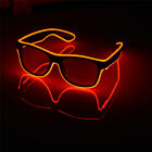 Glow Glasses Light Up El Wire Glowing Party Rave Glow-in-The Dark LED Sunglasses