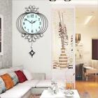 Luxury Bling Crystal Lantern Iron Art Room Wall Clock Modern Home Decoration