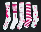 Pink Ribbon Breast Cancer Awareness Athletic Socks NEW Ladies Shoe Sizes 5-10