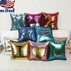 Magic Reversible Mermaid Sequins Cushion Glitter Cover Throw Pillow Case Decor image