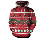 Christmas New Women's Hoodies New Long-Sleeve Sweater Hoodie Jacket Jacket red