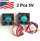 2 Pcs 5v 12v 24v 30mm Cooling Computer Fan 3010 30x30x10mm Dc 3d Printer 2-pin