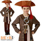 Deluxe Jack Sparrow Boys Fancy Dress Pirates of the Caribbean Kids Child Costume