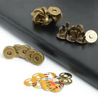 """10 Sets Metal Magnetic Purse Bag Clasp Closures 9/16"""" (14mm) or 11/16"""" (18mm)"""